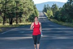 健身四十名妇女赛跑 库存图片