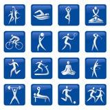 健身图标体育运动 皇族释放例证