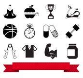 健身图标1 免版税库存照片