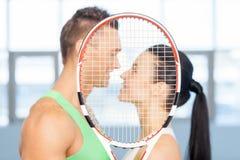 健身夫妇。 免版税库存图片