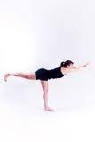 健身女子瑜伽 免版税库存图片