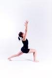 健身女子瑜伽 免版税图库摄影