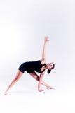 健身女子瑜伽 免版税库存照片