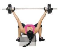 健身女孩重量 免版税库存图片