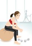 健身女孩 图库摄影