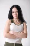 健身女孩 免版税图库摄影