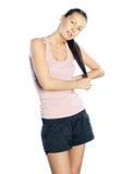 健身妇女。 体育运动。 库存照片