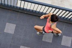 健身妇女赛跑 库存图片