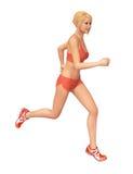健身妇女赛跑 向量例证