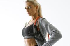 健身妇女锻炼 免版税库存照片