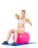 健身妇女 免版税图库摄影