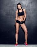 年轻健身妇女 免版税图库摄影