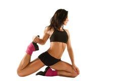 健身姿势女子瑜伽 库存图片