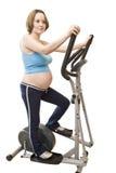 健身孕妇 库存照片
