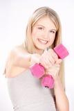 健身愉快的妇女 免版税库存图片