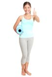健身成功妇女 免版税库存图片