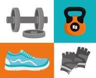 健身房和健身设计 库存图片