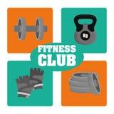 健身房和健身设计 免版税库存图片