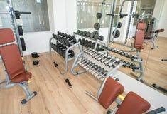 健身房在Kranevo旅馆复合体的温泉中心,保加利亚 库存图片