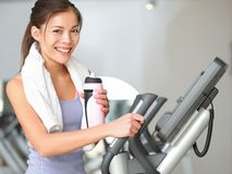 健身房妇女健身锻炼 库存图片