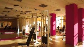 健身房用在4k的健身设备 股票视频