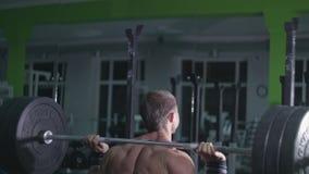 健身房的专业运动员 影视素材