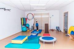 健身房的孩子 免版税图库摄影