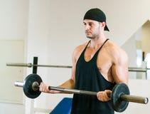 健身房训练锻炼 免版税库存照片
