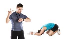 健身教练 免版税库存照片