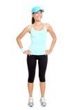 健身查出的妇女 免版税库存图片