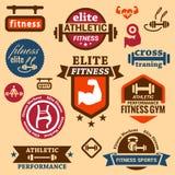 健身标签 免版税库存照片