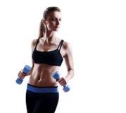 健身模型剪影 库存图片