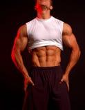 健身模型白色 库存照片