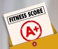 健身比分A+加上最高级的规定值回顾评估结果 免版税库存照片
