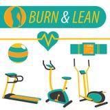 健身烧伤和精瘦的锻炼 图库摄影