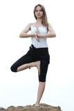 健身瑜伽 免版税库存照片