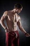 健身男性模型 库存照片