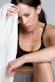 健身疲乏的妇女 免版税库存照片