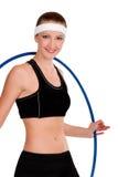 健身箍妇女年轻人 库存图片