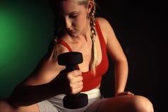 健身纵向 免版税库存图片