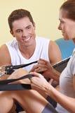 健身联系与培训人妇女 免版税库存照片