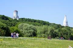 健身节日关于Reebok的在莫斯科公园 赛跑者关闭在节日 体育生活方式 免版税库存图片