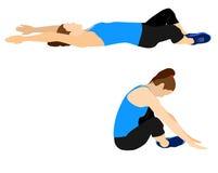 健身行使刺激 库存例证