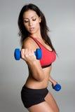 健身讲西班牙语的美国人妇女 免版税图库摄影