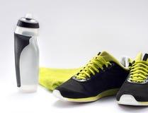 健身设备和健康营养 库存图片