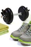 健身设备集合 免版税图库摄影
