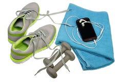 健身设备集合 图库摄影
