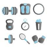 健身象集合 向量例证