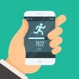 健身跟踪仪app -步进计数器 图库摄影