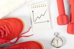 健身进展 免版税库存图片